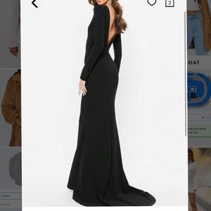 Black Open Back Gown